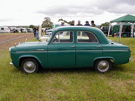 [A green Ford Prefect]